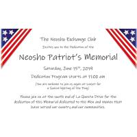 Dedication of the Neosho Patriot's Memorial