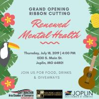 Grand Opening Ribbon Cutting - Renewed Mental Health