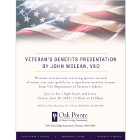Veteran's Benefits Presentation By John McLean, VSO