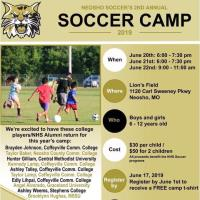 Neosho Wildcat Soccer Camp