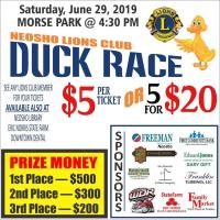 Neosho Lions Club Duck Race