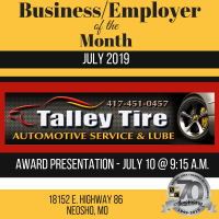 July Business of the Month - Talley Tire
