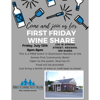 First Friday Wine Share (2nd Friday this Month!)