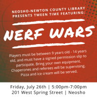 NNCL Presents: Tween Time Featuring NERF WARS