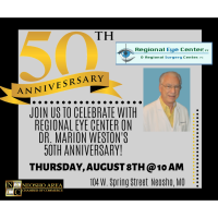 50th Anniversary Ribbon Cutting - Dr. Marion Weston