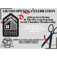 Ribbon Cutting/New Member Welcome - In The Dry Construction