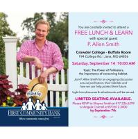 Lunch & Learn with Special Guest P. Allen Smith