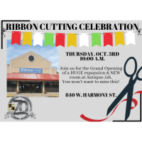Ribbon Cutting & Grand Opening - Antique-ish