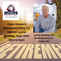 Open House & Retirement Party for Warren Lyerla at Lyerla Heating & Air