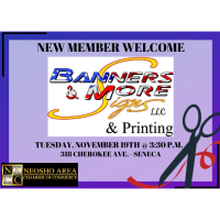 Ribbon Cutting/New Member - Banners & More Signs