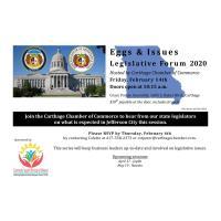 Carthage Eggs & Issues Legislative Forum 2020