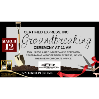Ground Breaking Ceremony for Certified Express, Inc.