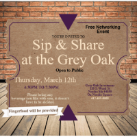 Sip & Share at the Grey Oak