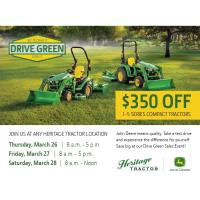 Drive Green Sales Event - $350 Off...