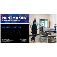 Printmaking at Crowder College