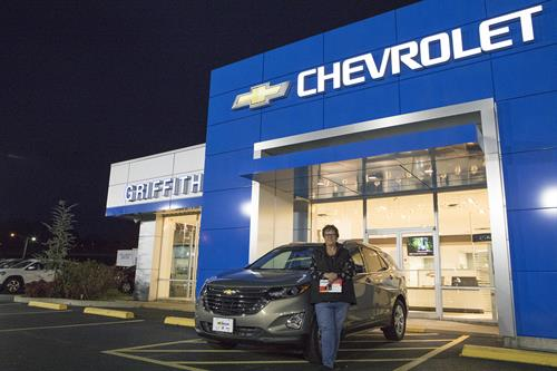 Cindy Wentz - winner of the 2018 Chevrolet Equinox Giveaway - 85th Year Celebration