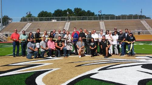 Turf Ribbon cutting A GREAT DAY TO BE A WILD CAT