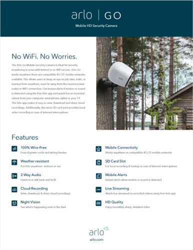 Arlo Go - Remote Security for your business or home