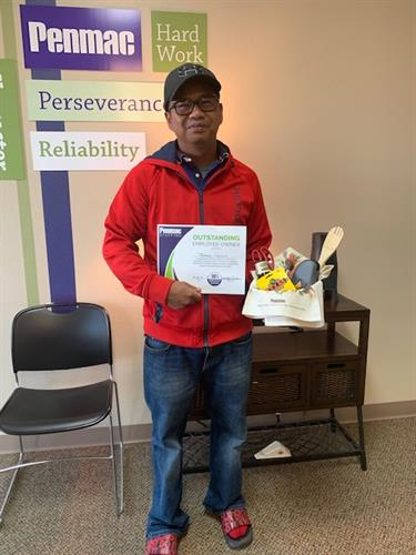Associate of the month:  Tommy Purcell