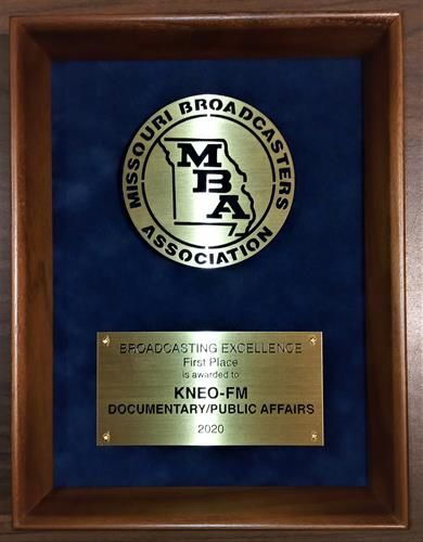 Missouri Broadcaster of the Year Award for Documentary/Public Affairs Program