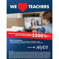 Arvest Bank Awarding More Than $75,000 to Teachers Within Footprint