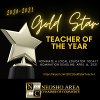 Nominations Open for 2021 Gold STAR Teacher of the Year Awards