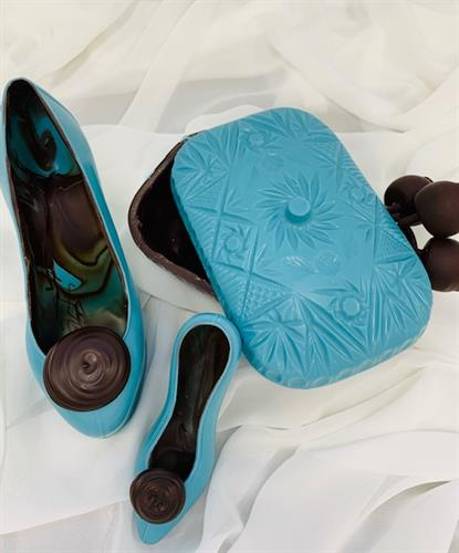 Chocolate Shoes and Box