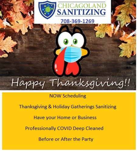 Holliday Party COVID Sanitizing  CALL TO SCHEDULE