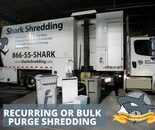 Recurring or Purge Shredding