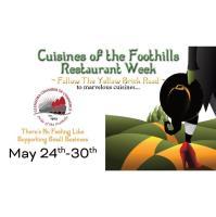 Cuisines of the Foothills Restaurant Week