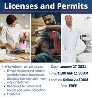 Licenses and Permits for Your Business Webinar