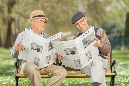 Our residents enjoy reading the newspaper