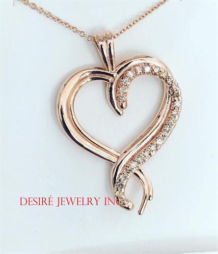 Custom Rose gold and diamond heart!