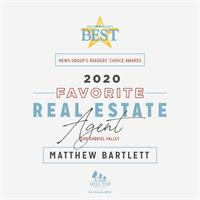 Matthew A. Bartlett with Hill Top Real Estate Voted a ''Favorite'' Real Estate Agent in SGV!