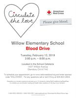 Willow Elementary School Blood Drive