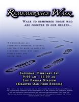 The Charter Oak Community Scholarship Program Remembrance Walk - February 1, 2020, 9:00-11:00AM