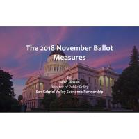 The 2018 Propositions on November's Ballot