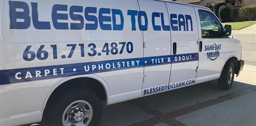 Our Blessed to Clean van!