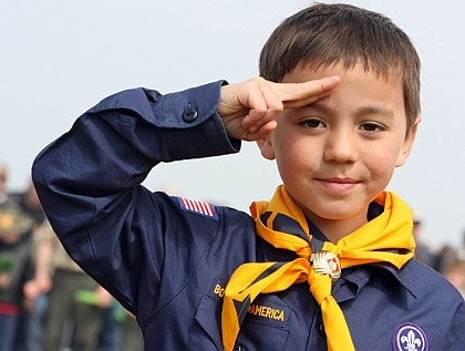 Cub Scout Saluting our Nation