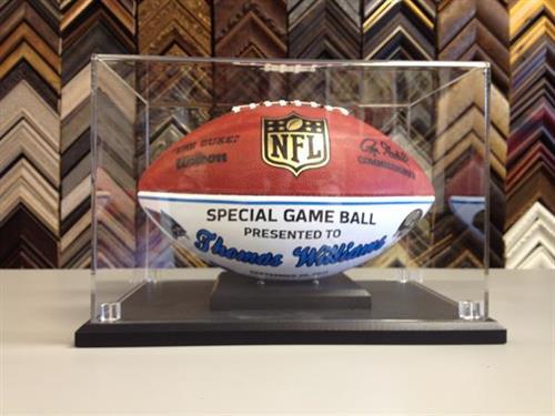 Football display case.