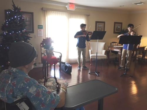 Conejo Valley Youth Orchestra perform for our Hospice patients at our Health care facility
