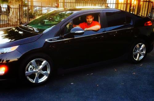 Our Happy Customer With His New Chevy Volt