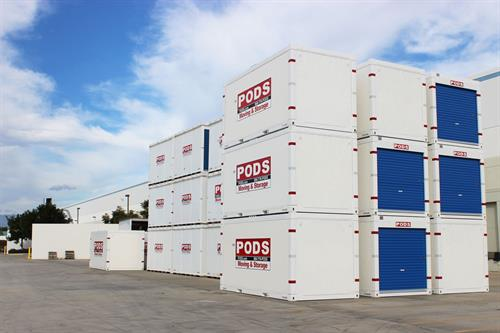 Moving and storage at PODS is made easier; we have two size containers for local storage. 8 ft wide, 8 ft tall and 12 or 16 ft long.