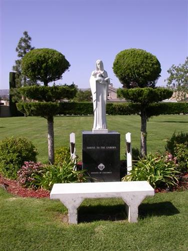 Shrine to the Unborn at Assumption Cemetery