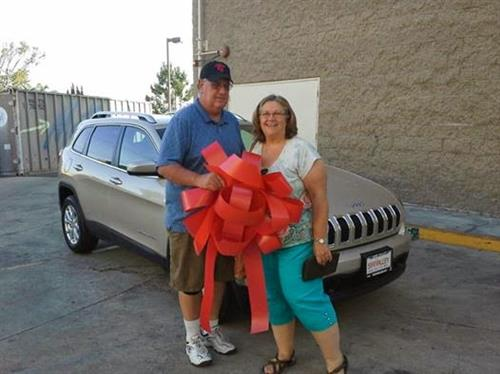 Our Happy Customers With Their New Jeep!