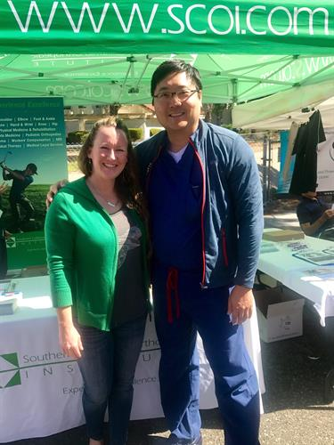 Dr Castaneda & Dr Choi at Street Fair 2017