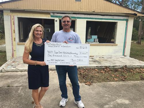 Donation to Open Door Ministries Flagler Couonty