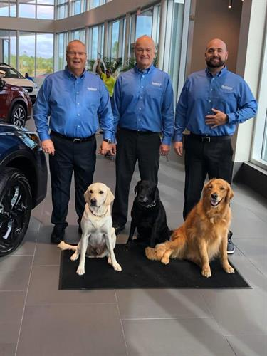 Larry, Ted and Brett want to welcome you to our new facility.