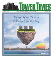 My FRONT COVER original artwork that I did for the TOWER TIMES in NYC.