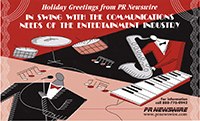 PR Newswire® Holiday Greetings Ad, that appeared in Billboard Magazine